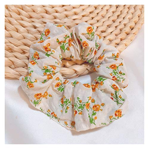Yyqfbh Hair ropes Pastoral style small floral hair tie ins style French retro lattice head rope Hair accessories (Color : Style 6, Size : Fits all)