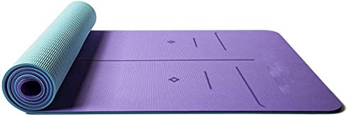Baibian Fitness Non Slip Tapis De Yoga 6 Mm épais Widen pour Débutant Exercice Pilates Haute Densité Pad Femmes Hommes Workout Gym Tapis De Sport,Violet