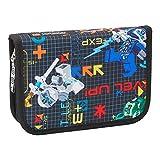 LEGO Bags Astuccio 20 pezzi riempito di LEGO NINJAGO Prime Empire, portapenne nero con contenuto, astuccio per la scuola con nome, calendario orario, righello e temperamatite