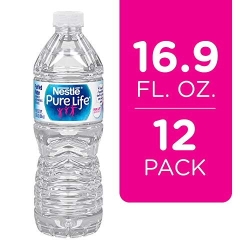 Nestle Pure Life Purified Water, 16.9 fl oz. Plastic Bottles (12...