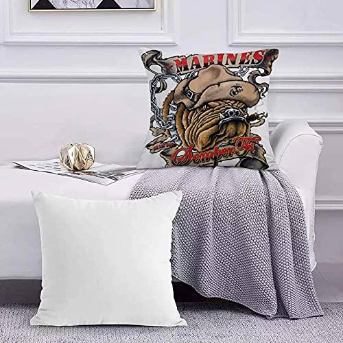 Ccstyle Dekorative Baumwolle Set Kissenbezug Marines Semper Fi Devil Dog Rauchen für Sofa Schlafzimmer Geeignet Kissen Cover Square Pillowcase