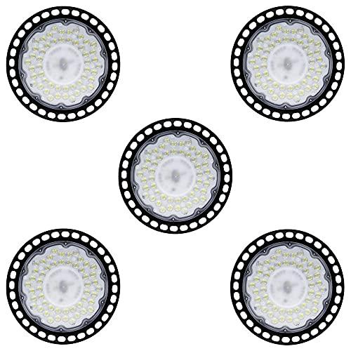 5 PAQUETE 100W 150W 200W UFO LED LIGHT LIGHTS High Bay Luces colgantes Cuerda segura 6500K High Bay LED Light Light Light Finxture, Fábrica impermeable Almacén High Bay Light (Color : 150W)