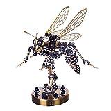 WEERUN Puzzle 3D de metal, modelo de avispa, juego de construcción 3D de metal, para adultos y niños, juego de construcción, avispas mecánicas