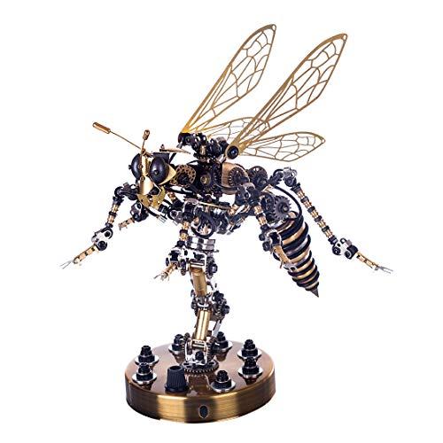 WEERUN 3D Metall Puzzle Modell Wespe Puzzle Set, DIY 3D Metall Bausatz Erwachsene Kinder Technik Spielzeug Baukasten - Mechanische Wespe