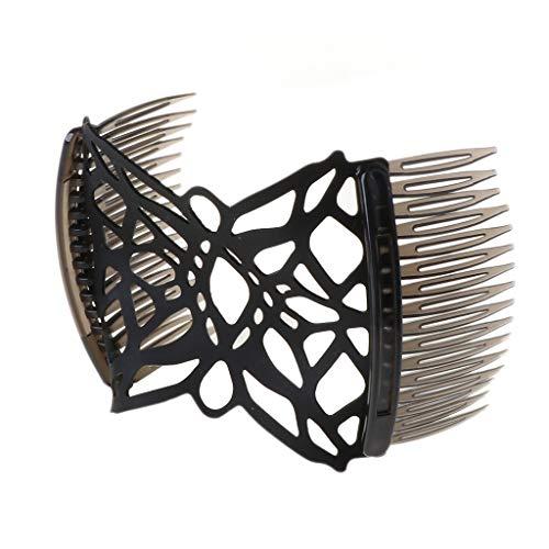 SUSHUN Rekbare dubbele haarkam Tools Dikke haarklemmen Banaan Haarklemmen verstelbaar