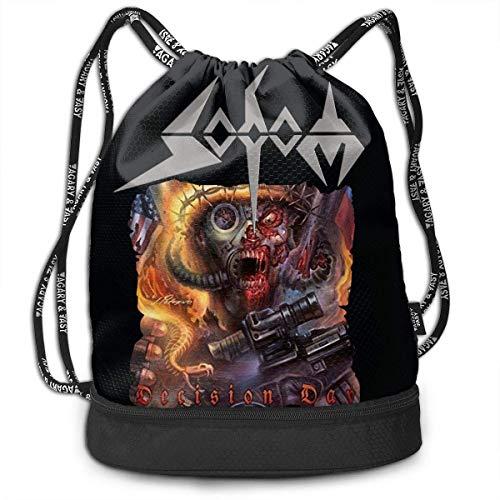 Rucksäcke,Sporttaschen,Turnbeutel,Daypacks, Sodom Decision Day Drawstring Bag Bundle Backpack Traveler Backpack Sport Bag for Men & Women