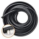 Protection en caoutchouc pour porte de voiture, 5m, joint en forme de U, noir, pour rebords de voiture en métal, bateaux et équipements lourds