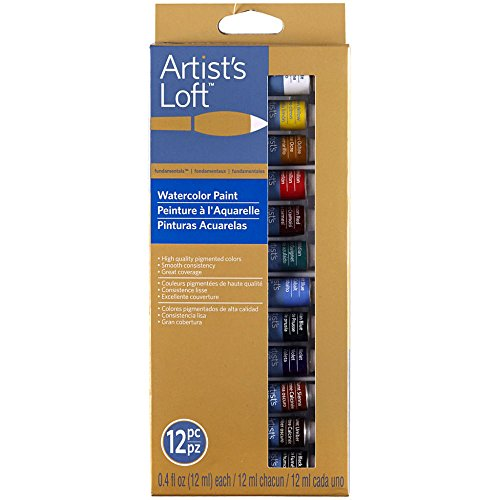 Artist's Loft Fundamentals Watercolor Paint 12 Pieces