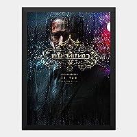 ハンギングペインティング - ジョンウィック 3 John Wick chapter 3 2のポスター 黒フォトフレーム、ファッション絵画、壁飾り、家族壁画装飾 サイズ:33x24cm(額縁を送る)