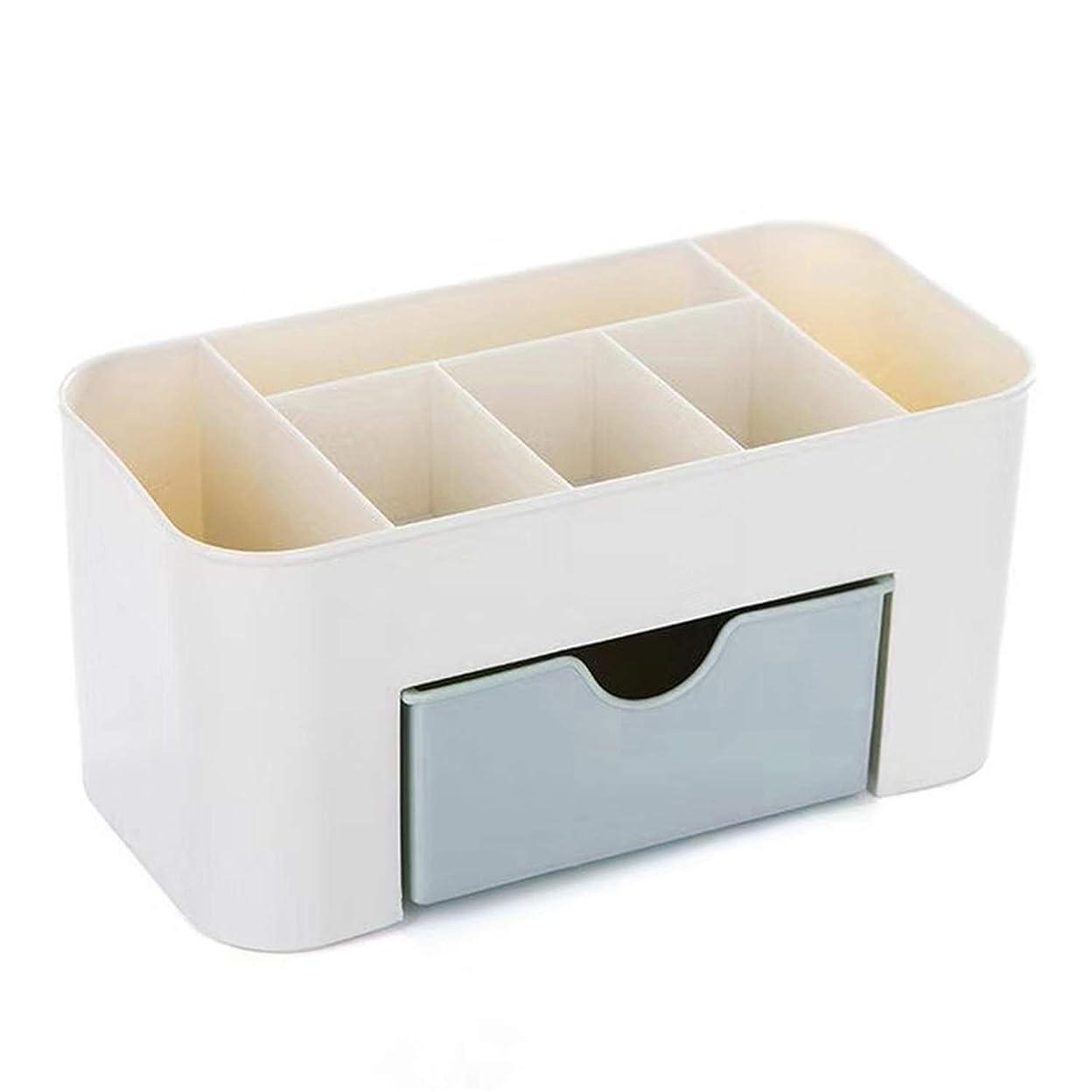 表向き表現エンコミウムHJY スタッカブルと防水プラスチック化粧オーガナイザー、事務机文具収納ボックス化粧品ホルダー、大容量ジュエリーディスプレイケース (あいいろ)