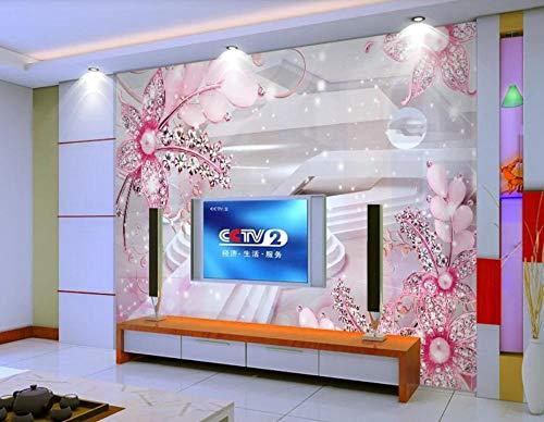Papel Pintado Pared 3D Murales Pared Flor Espacial Moderna Papeles Pintados Fotomurales Decorativos Pared Decoración Mural Pared