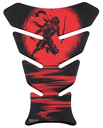 Protector de depósito 3D – 500962 – Ninja Red / Rojo / Samurai / Espada – Universal para depósitos Yamaha, Honda, Ducati, Suzuki, Kawasaki, KTM, BMW, Triumph y Aprilia