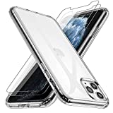 Losvick iPhone 11 Pro Case, Cover with [2x Tempered Glass
