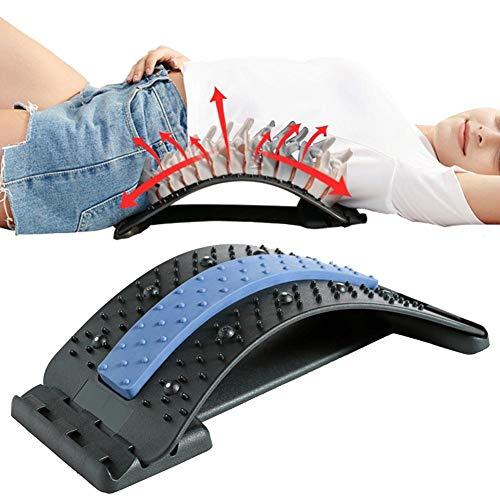 Rückenstrecker Rückendehner Back Stretcher, 3 Einstellbare Einstellungen Keilrahmenmassagegerät Lendenwirbelstützen-Entspannungsmassagegerät Für Yoga-Training Zur Linderung Von Rückenschmerzen