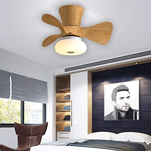 Infantil Dormitorio Lamparas Ventilador De Techo Reversible Con Mando 6 Velocidades Regulable LED Ventilador Techo Con Luz 64W Con Temporizador Moderno Silencioso Lamparas Ventilador De Techo,H