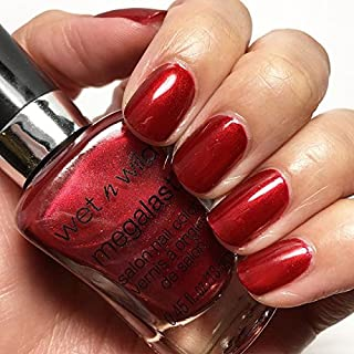 wet n wild Megalast Nail Polish Color, Taking The Red-Eye, D195A, 0.45 Fluid Ounce