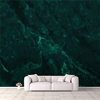 3D Wallpaper Dark Green Marble Texture Background with high Resolution top View of Self Adhesive Bedroom Living Room Dormi...