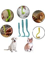 Ntribut 3PCS / Pack Tick Herramienta de eliminación de Ganchos Eliminar garrapatas en Perros Gatos Otros Animales y Humanos