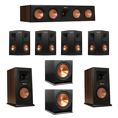 Purchase Klipsch 7.2 Walnut System with 2 RP-150M Monitor Speakers, 1 RP-450C Center Speaker, 4 Klip...