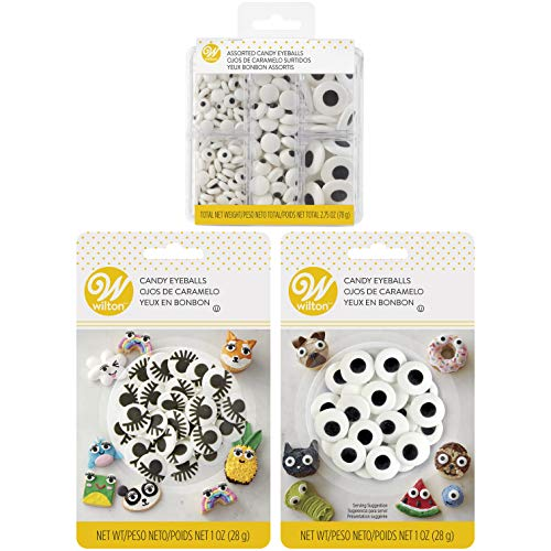 Wilton Assorted Candy Eyeballs Set, 3-Packs