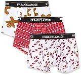 Urban Classics Herren Unterhosen Mit Weihnachts-Motiv Christmas Fun Boxer 3Er Pack Boxershorts, Mehrfarbig (Wht/X-Masred/Wht 02385), (Herstellergröße: XX-Large)