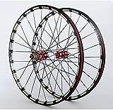 LYzpf Montaña Llantas Bicicleta Rueda Perfil Delantera Trasera Bici Rim Conjunto 26/27.5 Inch Accesorios de Equipamiento De Aleación Aluminio,26inch