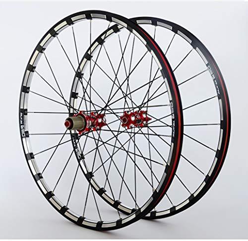 LYzpf Montaña Llantas Bicicleta Rueda Perfil Delantera Trasera Bici Rim Conjunto 26/27.5...