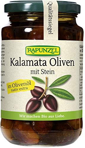 Rapunzel Bio Oliven Kalamata violett, mit Stein in Olivenöl (6 x 335 gr)
