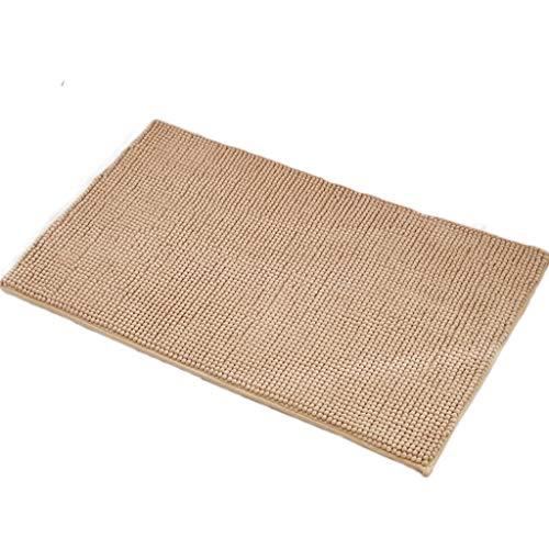 Gjfhome badmat, chenille tapijt voor thuis foyer keuken anti-slip absorberende douchecabine kinderen milieu vloer deurmat (40 * 60cm)