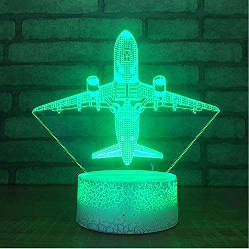 Christmas gift for baby 3d Desk Lamp Touch Screen Lamp Acrylic Crack 3d Night Light Usb Table Lamps touch switch 7-color sleep light