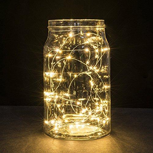 3 Meter 30 Lichter Knopfbatterie Lichterkette Kupferdraht Weihnachten Dekorativer Lichterkette Bunt Weihnachtsbeleuchtung Weihnachtsbaum Christmas Hochzeit Party Lichterkette