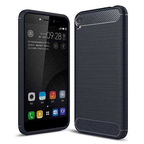 König Design Handy-Hülle kompatibel mit Asus Zenfone Live ZB501KL Silikon Hülle Hülle Sturzsichere Back-Cover Handyhülle - Carbon - Blau