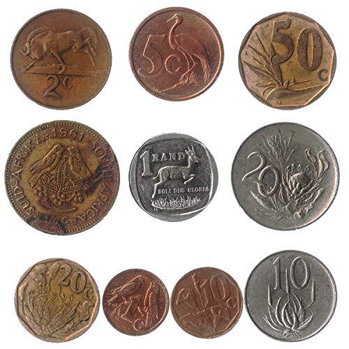 10 Monedas Antiguas del Africano del Sur De Africa (rsa) Coleccionables Monedas...