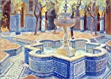 Posterlounge Hartschaumbild 40 x 30 cm: Der Blaue Brunnen von Lucy Willis/Bridgeman Images - Lucy Willis