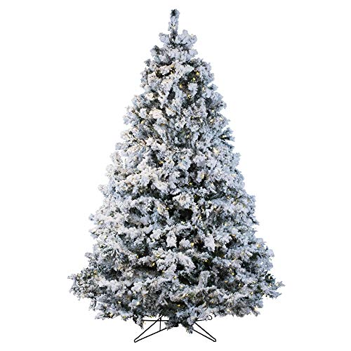 Vickerman 65' Flocked Alaskan Pine Artificial Christmas Tree with 600 Warm White LED Lights