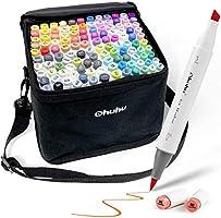 Ohuhu 120-Color Alcohol Art Markers Set, Ohuhu Dual Tip, Brush & Chisel, Sketch Marker, Alcohol-Based Brush Markers...