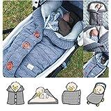 ベビー寝袋冬、カシミヤと寝袋子供、足で眠っている赤ちゃんは、生まれたばかりの赤ちゃんのための厚く暖かいベビーカーニット毛布プラスベルベットの暖かい冬のラップエンベロープ、70 * 40センチメートル,1