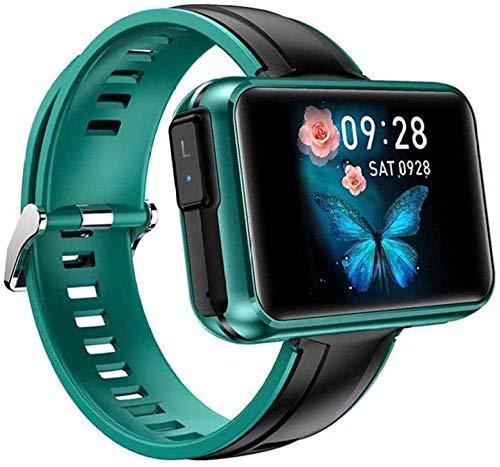 DHTOMC Multi-deporte reloj inteligente pantalla ancha dos en uno llamada deportes pulsera inteligente monitoreo inteligente-Verde