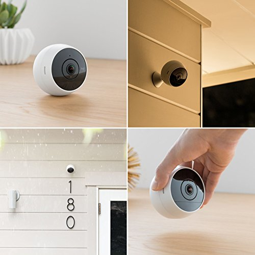 Logitech Circle 2 Indoor/Outdoor Weatherproof Wireless Home Security Camera (Person Detection, 24-Hr Free Time-Lapse), Works with Alexa and Google Assistant