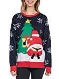Tipsy Elves Women's Winter Whale Tail Sweater - Funny...