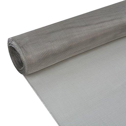 vidaXL Malla Plateada Material Acero Inoxidable 202 Dimensiones 150 x 500 cm