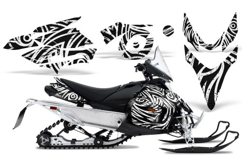 CreatorX Graphics Kit Decals Stickers for Yamaha Phazer Rtx Gt Mtx Snowmobile Sled TribalZ White