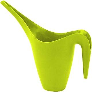 Yolmook - Regadera grande para interiores y exteriores, para plantas, flores, regadera de plástico, 1 L, boquilla larga large verde