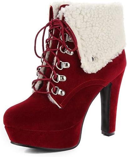Bottes Femme   Bottines   Flanged femmes with Velvet European and American High Heels