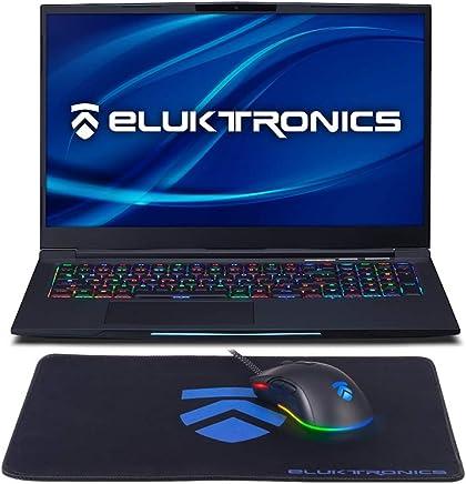 "Eluktronics MECH-17 G1Rx Slim & Light NVIDIA GeForce RTX 2070 Gaming Laptop with Mechanical RGB Keyboard - Intel i7-9750H CPU 8GB GDDR6 VR Ready GPU 17.3"" 144Hz Full HD IPS 512GB NVMe SSD + 16GB RAM"