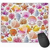 N\A Mousepad Seamless Sea Travel Icon Set Buceo Submarino Gaming Mouse Pad Mat Base de Goma