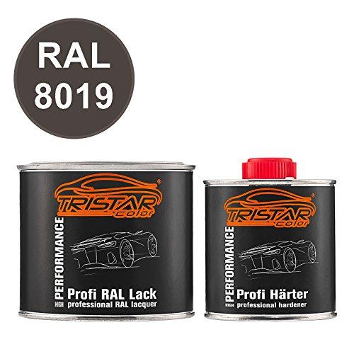 TRISTARcolor RAL 8019 Graubraun seidenmatt 2K Autolack 0,75 Liter / 750 ml Dose inkl. Härter