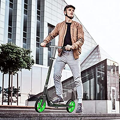 Amazon - Save 80%: Folding Kick Scooter for Youth Adult, Scooter for Adults with 20cm Solid N…