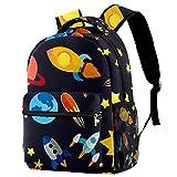 Mochila plana para niños pequeños, ligera, mochila escolar, duradera, informal, para niñas y niños, 29,4 x 20 x 40 cm