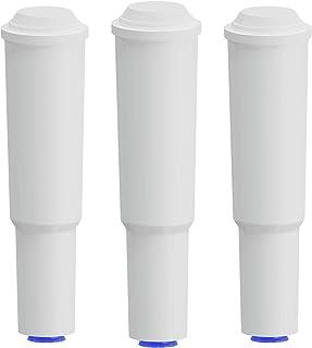 Fil-fresh Lot de 3 cartouches filtrantes Jura Claris Smart, filtre à eau blanc pour machine à café Jura - Détartrant compa...